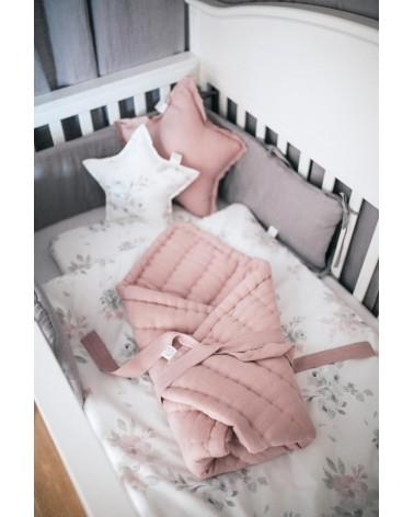 Lniany ochraniacz do łóżeczka