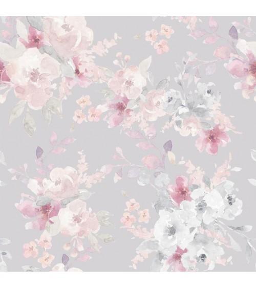 Tapeta Malowane Kwiaty Pastelowe