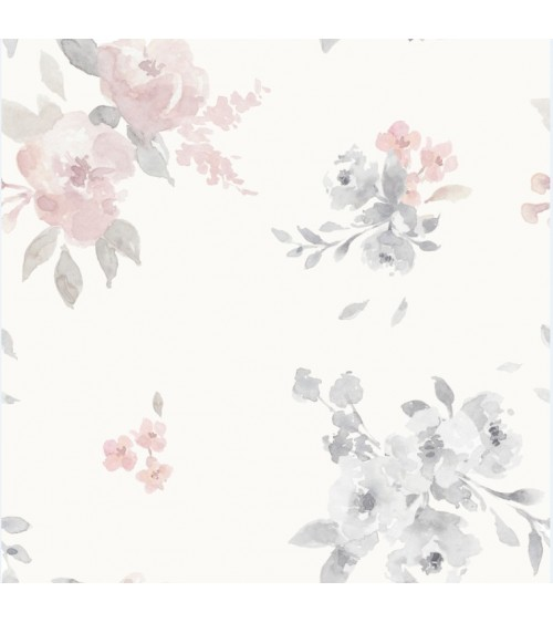 Tapeta Malowane Kwiaty Jasne
